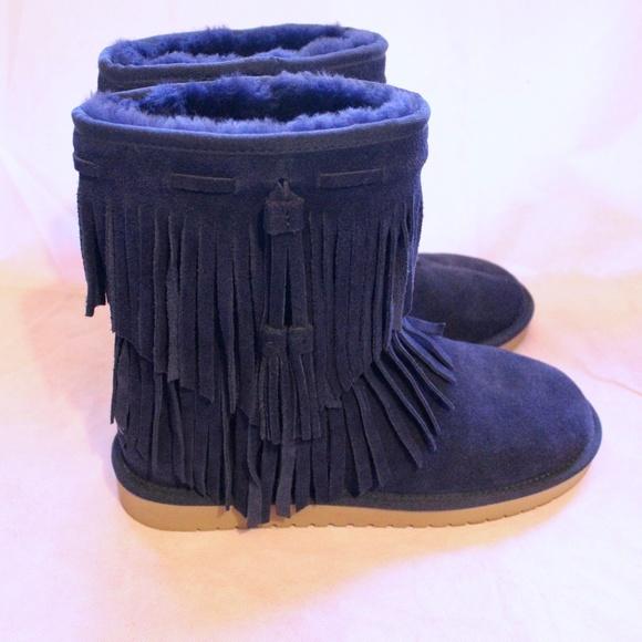 57e59ef03d3 Koolaburra By Uggs Cable Blue Boots